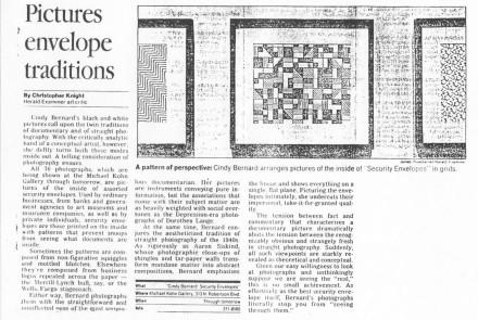 Christopher Knight, Los Angeles Herald Examiner, May, 1988