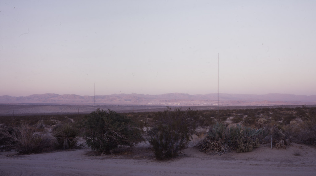 Antenna (100 ft. rhombic, partial), W6BA/W6ANN Twentynine Palms, CA 2007