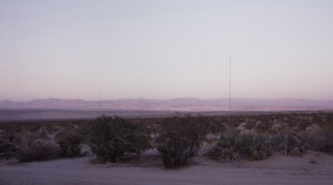 Cindy Bernard, Antenna (100 ft. rhombic, partial), W6BA/W6ANN Twentynine Palms, CA 2007