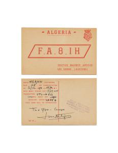 Cindy Bernard, FA8IH, December 3, 1950 Algeria today: People's Democratic Republic of Algeria (independent 1962) 41 of 115 parts