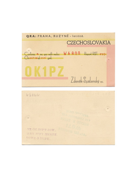 Cindy Bernard, OK1PZ, May 23, 1938 Czechoslovakia today: Czech Republic (independent 1993) 16 of 115 parts