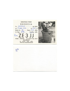 Cindy Bernard, ZE3JJ, April 5, 1970 Rhodesia today: Republic of Zimbabwe (independent 1965, renamed 1980) 100 of 115 parts