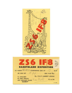 Cindy Bernard, ZS6IF/8, December 17, 1959 Basutoland today: Kingdom of Lesotho (independent 1966) 60 of 115 parts
