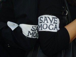 Armbands made by MOCA grant writer Elizabeth Jordan