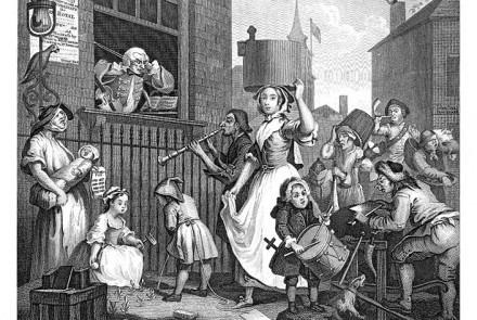 William Hogarth, The Enraged Musician, 1741
