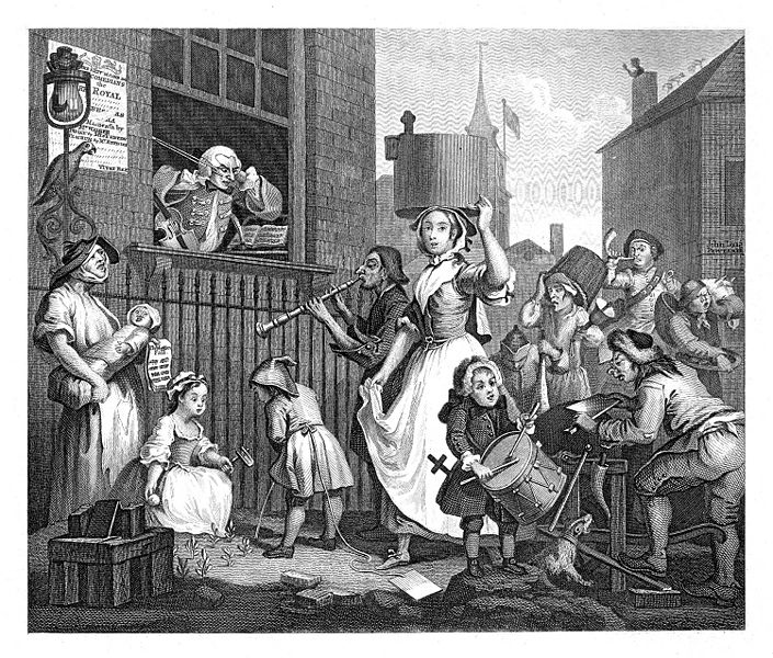 William Hogarth, The Enraged Musician, 1741