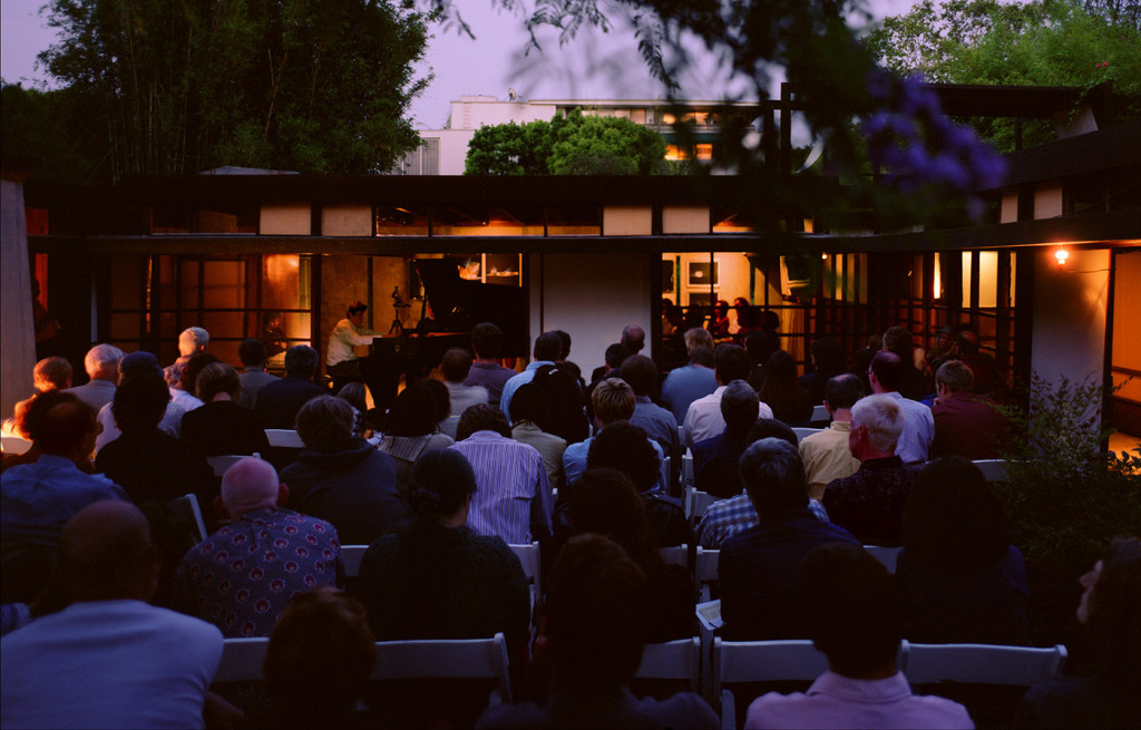 """Cindy Bernard, June 28, 2002, 2002 – James Tenney plays 4'33"""" by John Cage at the first sound. concert held under the auspices of SASSAS"""