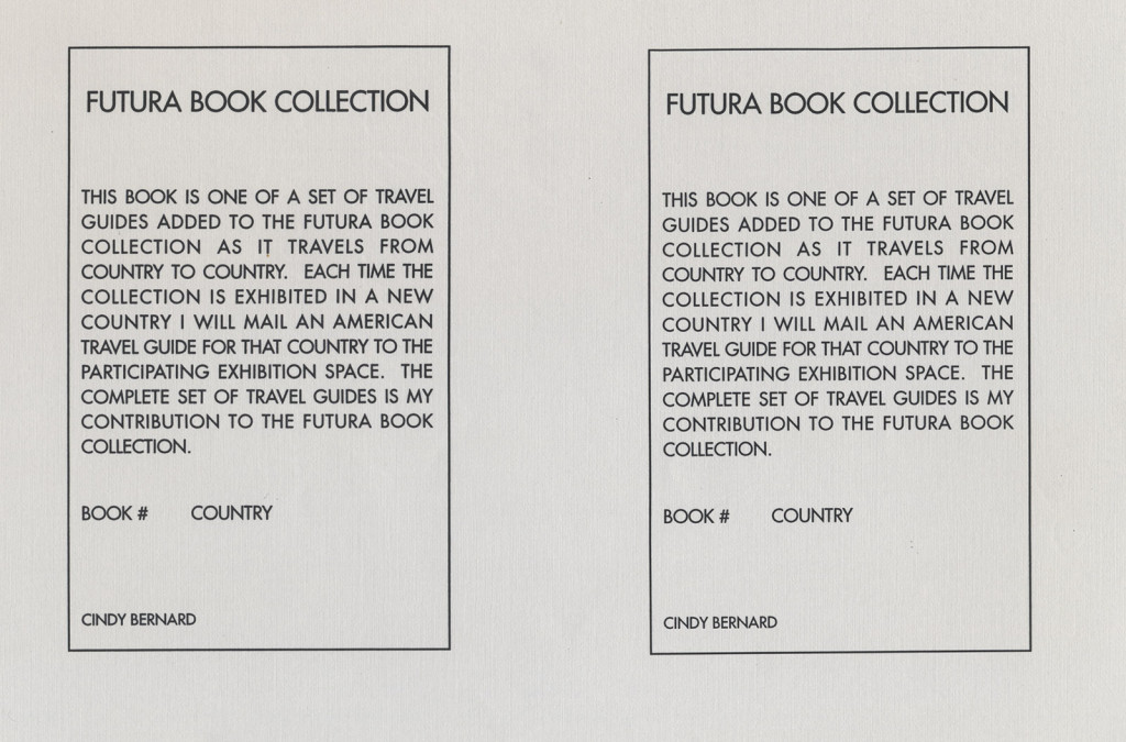 Cindy Bernard, Futura Book Collection, 1993