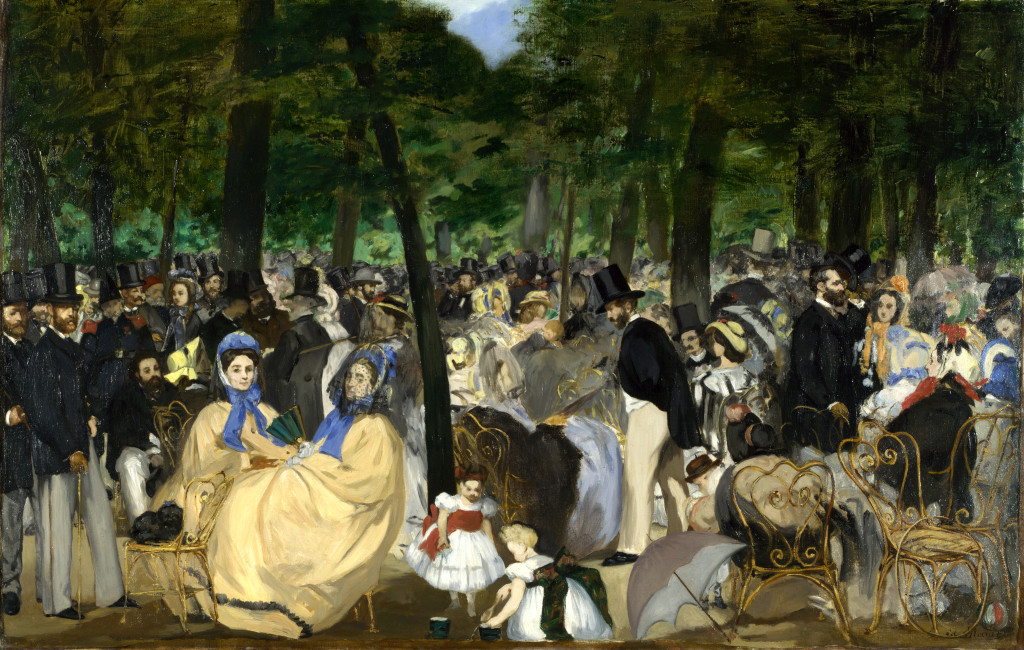 Édouard Manet, Music in the Tuileries, 1862