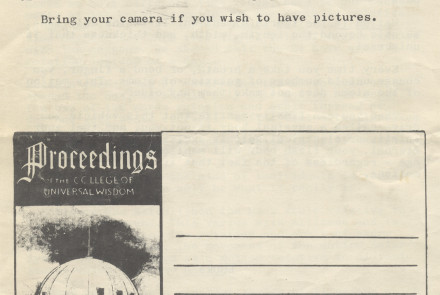 Proceedings Vol. 7 No. 2, Rear Cover, 1961