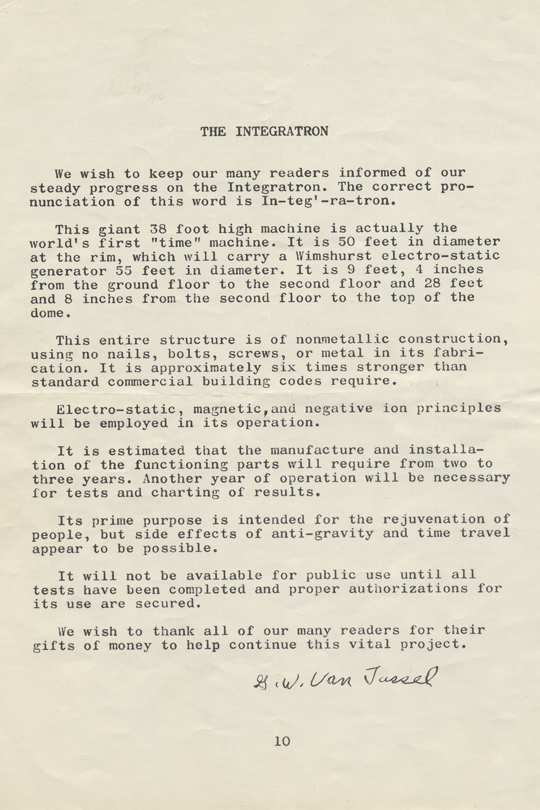 Proceedings Vol. 7 No. 2, pg. 10, 1961