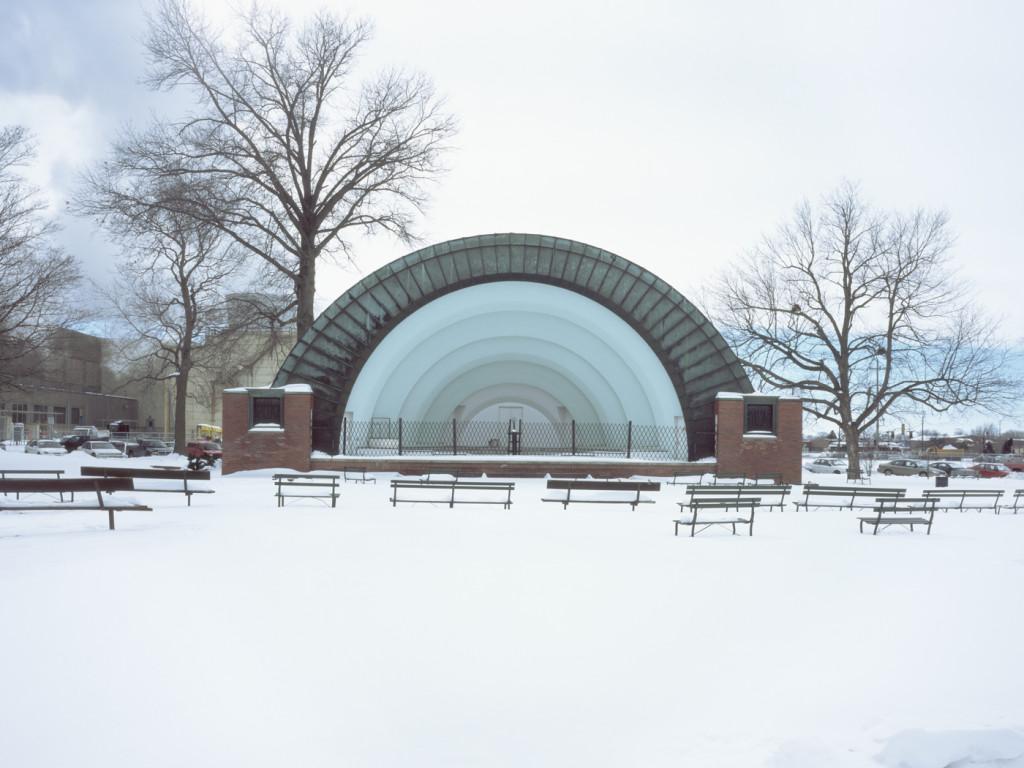 Cindy Bernard, Ames Municipal Bandshell aka Ames Music Pavilion (funding unknown, 1935) Ames, Iowa, 2004
