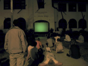 Cindy Bernard and Joseph Hammer, projections+sound, Beyond Baroque, Los Angeles, August 19, 2001