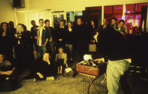 Cindy Bernard and Joseph Hammer, projections+sound, Goldman-Tevis Gallery, Los Angeles, March 17, 2001