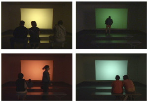 Cindy Bernard and Joseph Hammer, projections+sound, (installation version), Visual Music, Museum of Contemporary Art Los Angeles, February 13- May 23, 2005