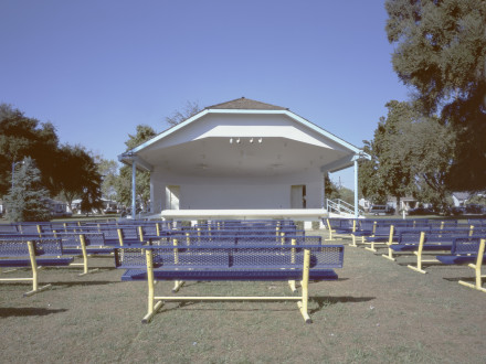 Cindy Bernard, Bandstand, Memorial Park (Community Parklands Act of 1986, 1988) Kingsburg, California