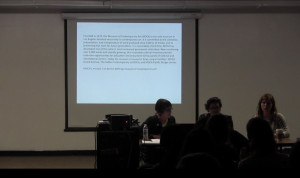 Cindy Bernard, Diana Thater, Stacey Allen at CalArts, September 2012