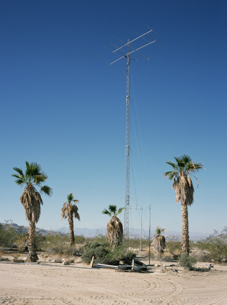 Antenna (NW), W6BA/W6ANN Twentynine Palms, CA, 2007  Chromogenic print  Framed: 61 x 47.5 inches  Edition of 3