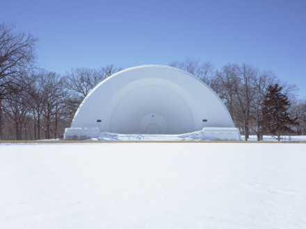 Cindy Bernard, Karl L. King Band Shell aka Oleson Park Bandshell (Works Progress Administration, 1938) Fort Dodge, Iowa, 2004