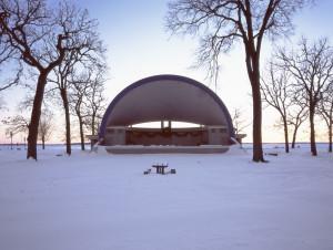 Cindy Bernard, Ludwig Wangburg Bandshell (City of Clear Lake, 1954) Clear Lake, Iowa, 2004