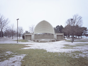 Cindy Bernard, Sesquicentennial Bandshell (Citizens of Kenosha, 1988; Grass Knoll by G. LeBlanc Corporation, 1988) Kenosha, Wisconsin, 2004