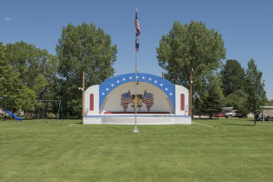 Cindy Bernard, Whipple Park Bandshell (Work Projects Administration, 1941-1942), Lingle, Wyoming, 2013