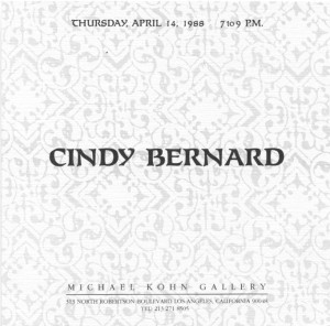 Exhibition Announcement, Michael Kohn Gallery, April 1988