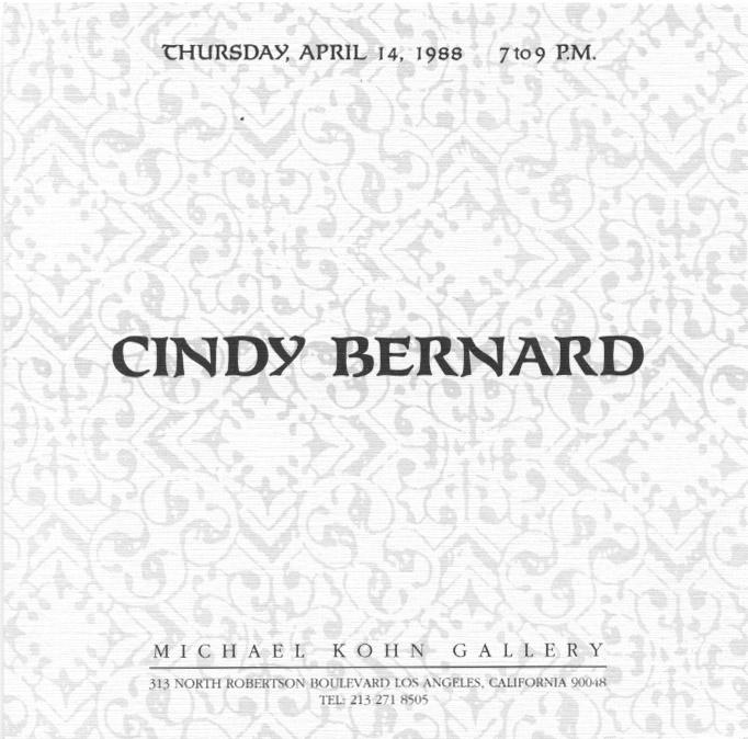 Exhibition Announcement, Michael Kohn Gallery, April 1988