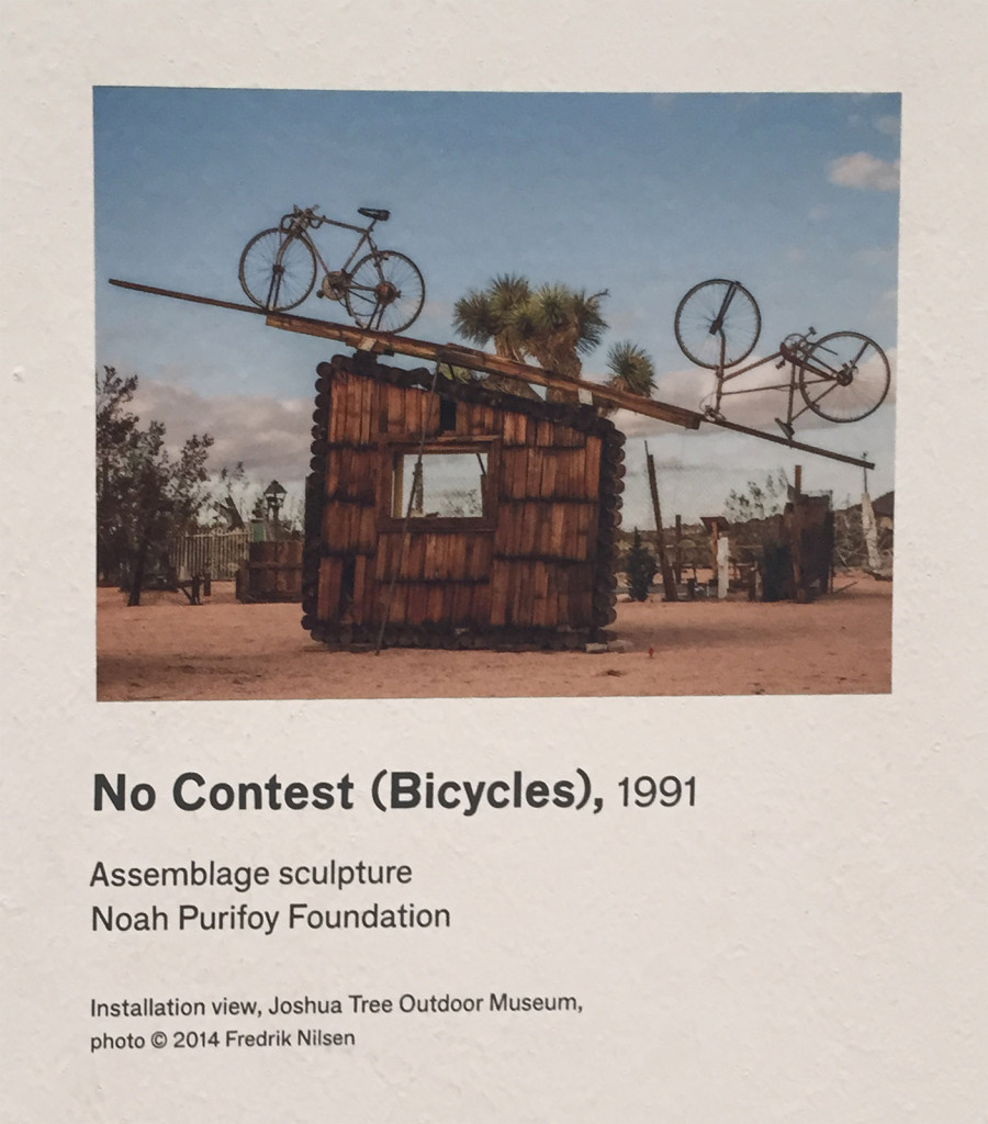 Noah Purifoy, No Contest (Bicycles), LACMA wall label
