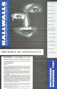 Spiral of Artificiality Cover, Hallwalls
