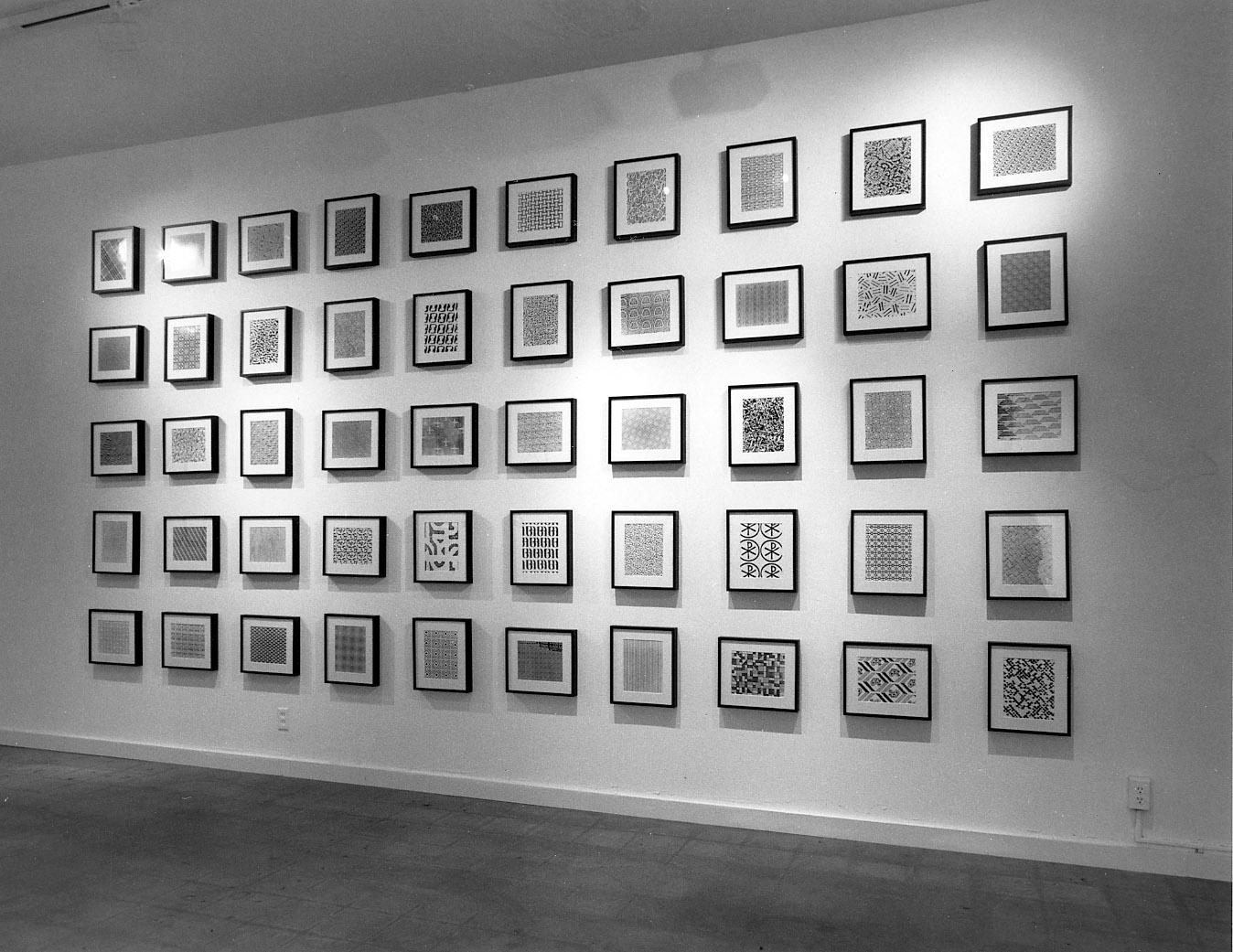 Cindy Bernard, Security Envelope Grid (1-50), Michael Kohn Gallery, May 1988