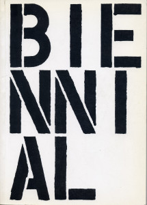 Christopher Wool, Cover, Whitney Biennial catalogue, 1989