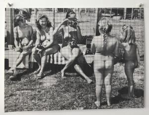 Cindy Bernard, Eden Annual No. 4, 1960, p. 16 (Ed Lange), Pigment print, graphite, 17 x 22 inches