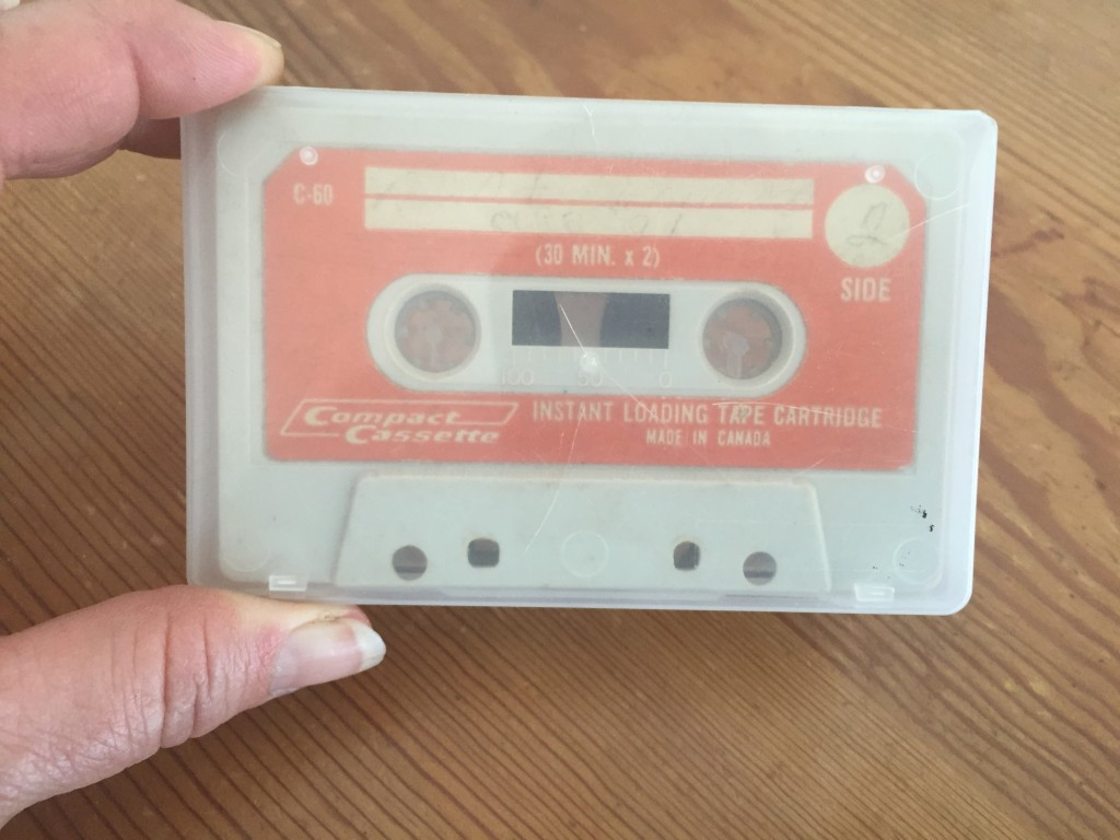 Cassette of Aunt Sus singing, circa 1971