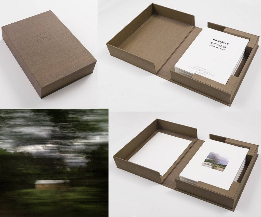 Image: Manassas to Culpeper, 2014-15/2016, 98 archival pigment prints in a custom portfolio box. Detail: Mansassas to Culpeper: Img_5756 (Folio photos credit:Jeff McLane)