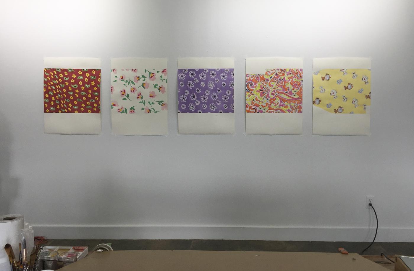 Cindy Bernard, Vinland, Work in progress, UCross Residency, 2017