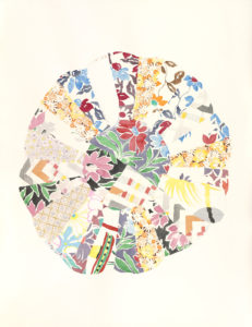 Cindy Bernard, Block 5, with repairs, (Miraleste circa 1940 and Twentynine Palms circa 1970), 2018, Watercolor, graphite, 44 x 34 inches